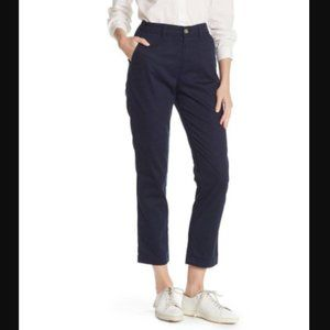 J CREW Slim Chino Pants French Navy Blue Slim Crop
